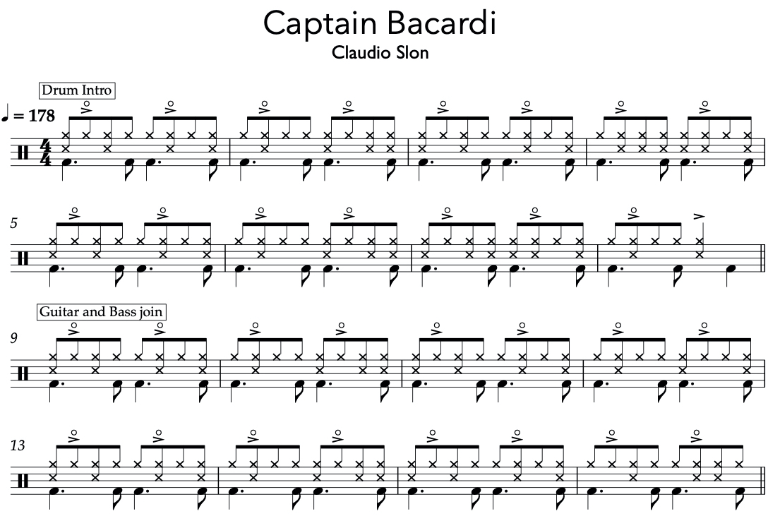 Capatin Bacardi - Claudio Slon - on jazz drumming